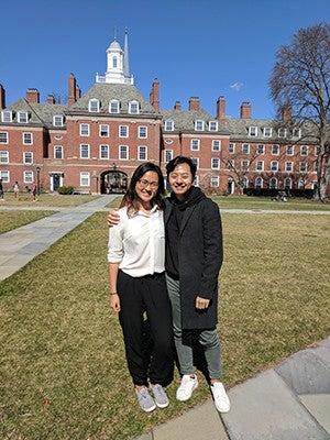AASA co-moderators Lillian Hua '21 and Brandon Lu '21