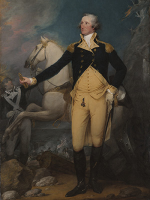 "John Trumbull, ""General George Washington at Trenton,"" 1792, oil on canvas"