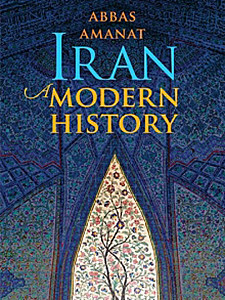 "Photo of the cover of the book titled ""Iran: A Modern History."""
