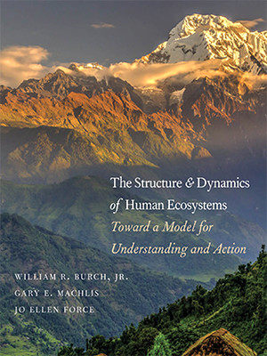 """Photo of cover of the book titled """"The Structure and Dynamics of Human Ecosystems"""""""