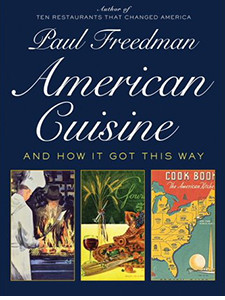 "Cover of the book titled ""American Cuisine and How It Got This Way."""