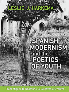 "Photo of the cover of the book titled ""Spanish Modernism and the Poetics of Youth."""