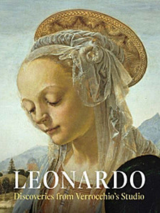 "Cover of the book titled ""Leonardo: Discoveries from Verrocchio's Studio."""