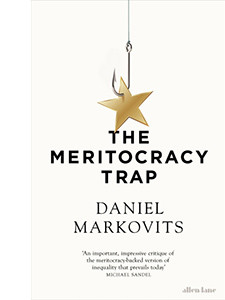 """Cover of the book titled """"The Meritocracy Trap."""""""
