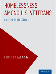 "Cover of the book titled ""Homelessness Among U.S. Veterans: Critical Perspectives."""