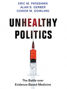 """Photo of the cover of the book titled """"Unhealthy Politics"""""""