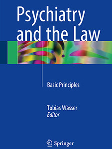 "Photo of the cover of the book titled ""Psychiatry and the Law."""
