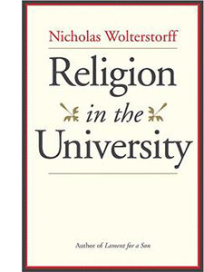 """Cover of the book titled """"Religion in the University."""""""