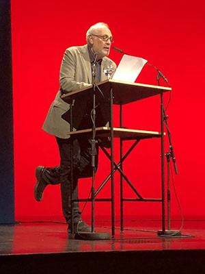 Charles Bernstein Charles Bernstein reading at the Berlin Poetry Festival on May 25, 2018
