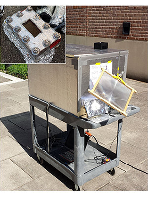 The nanophotonics-enabled solar membrane distillation system (NESMD).