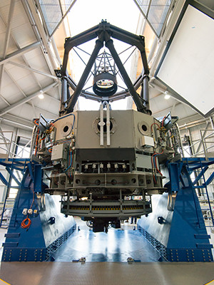 Rear view of the Lowell Observatory Discovery Channel Telescope in Arizona