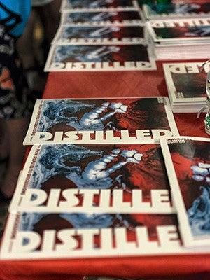 Copies of DISTILLED magazine