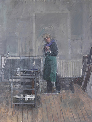 "Eileen Hogan, ""Self-Portrait in Pembroke Studios"""