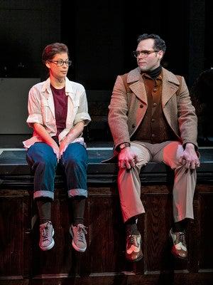 "Eli Pauley and J.J. McGlone (DRA '20) in ""Fun Home"""