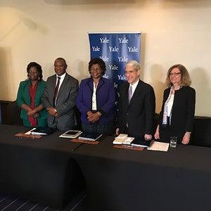 Dr. Grace Murilla, Dr. Sam Kasiki, Dr. Felister Makini, Peter Salovey, Dr. Serap Aksoy