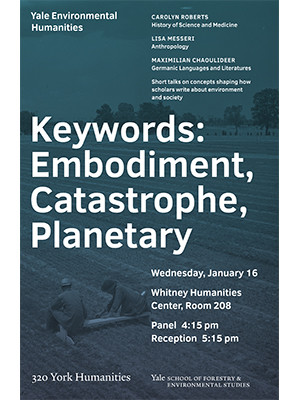 Keywords in the Environmental Humanities event poster