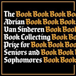 Poster for the Van Sinderen book prizes.