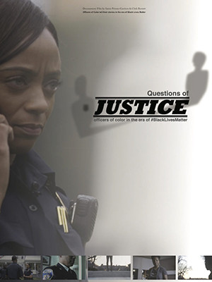 "Poster for the film ""Questions of Justice."""
