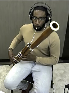 Mateen Milan, a second-year student at the School of Music