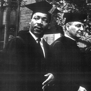 """From """"The Kings at Yale,"""" King receives an honorary Doctor of Laws degree at Yale on January 14, 1962."""