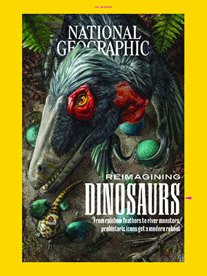 Reimagining Dinosaurs, National Geographic magazine cover.