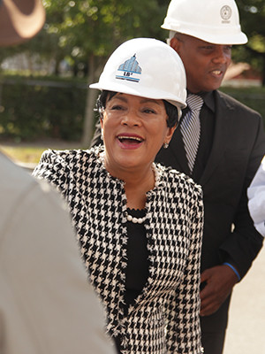 New Haven Mayor Toni Harp '78 M.E.D. at the NXTHVN press tour.