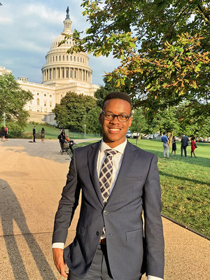 Brunner, a double major in French and ethics, politics and economics, on a trip to Washington, D.C.