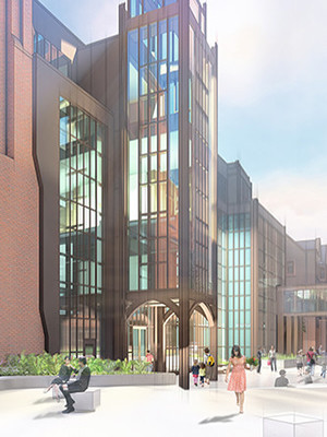 A artist rendering of the planned renovations at the Peabody. (Rendering by Centerbrook Architects and Planners)