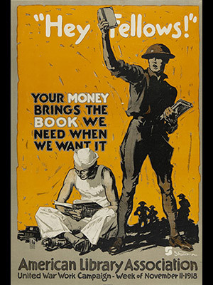 A WWI book drive poster.