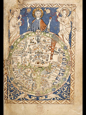 """The Map Psalter,"" a medieval world map"