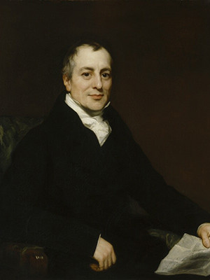 Portrait of David Ricardo by Thomas Phillips, circa 1821