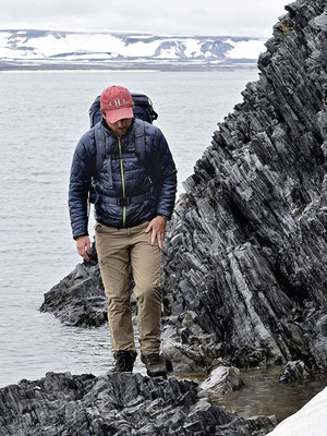 First author Ross Anderson in Svalbard
