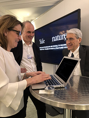Yale President Peter Salovey at the World Economic Forum in Davos.