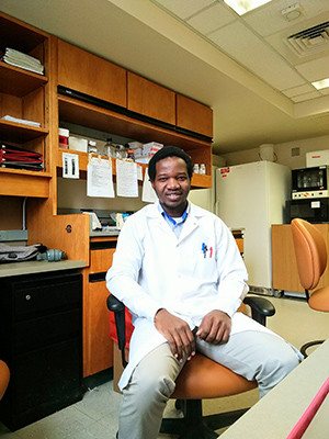 George Ssenyange at the Sutton Lab
