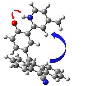 Anthracene-phenol-pyridine unimolecular triads undergo concerted proton and electron transfer reactions following illumination.