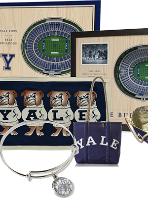 A collage of Yale memorabilia from the Yale Collection