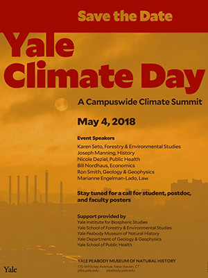 Yale Climate Day poster