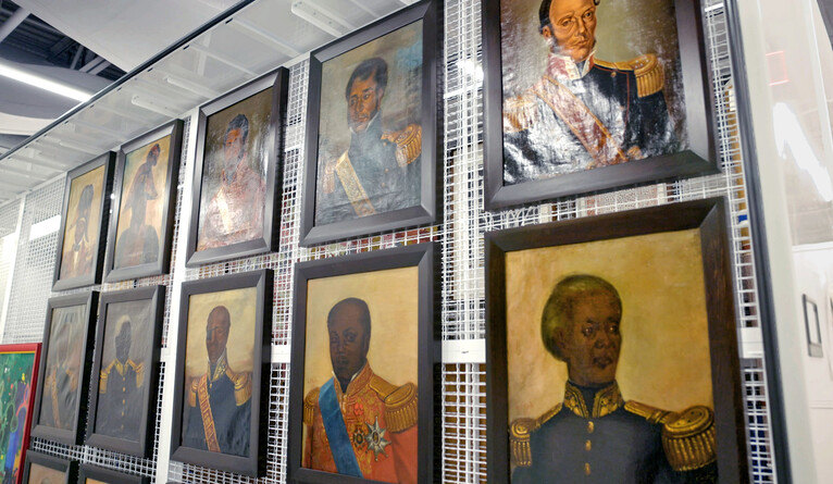 Paintings of Haitian military and political leaders.