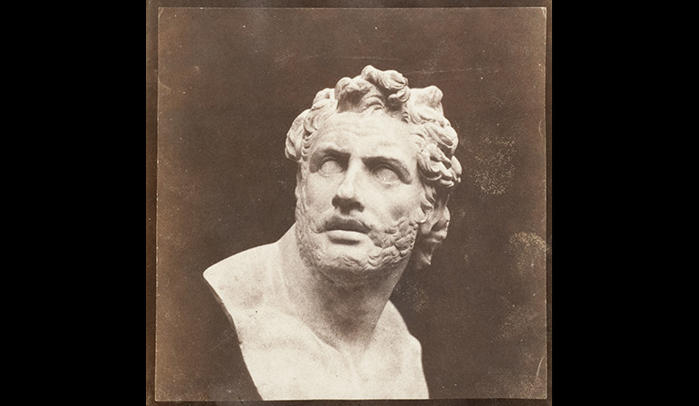 William Henry Fox Talbot, Bust of Patroclus (The Patroclus of the British Museum), ca. 1844–46, salted paper print
