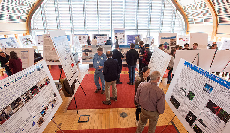 Posters on display at at the Yale Day of Instrumentation.