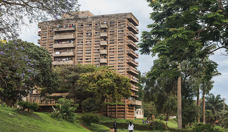 Mary Stuart Hall, one of the 11 modernist buildings showcased in the exhibition.