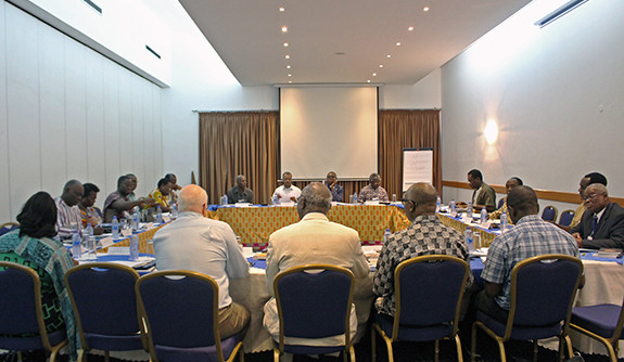 A group of religious leaders meeting for a conference in Accra, Ghana in February 2011.
