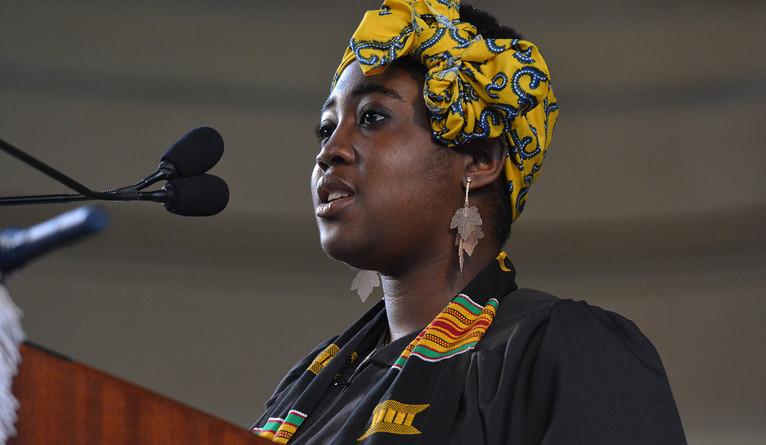Adwoa Buadu recited the Ivy Ode