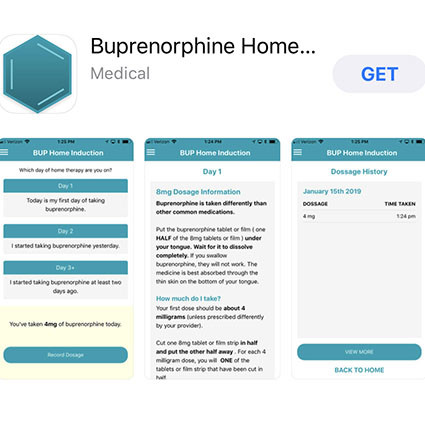 BUP Home Induction mobile app screenshot.