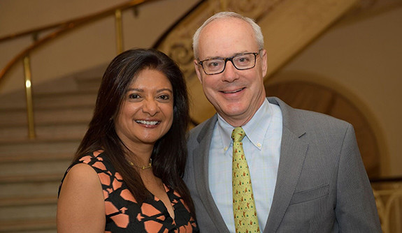Bo Hopkins '86 M.B.A. and his wife, Ranji Nagaswami '86 M.B.A.