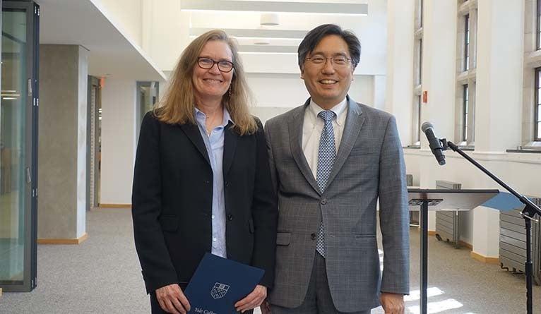 Jill Campbell with Dean Marvin Chun