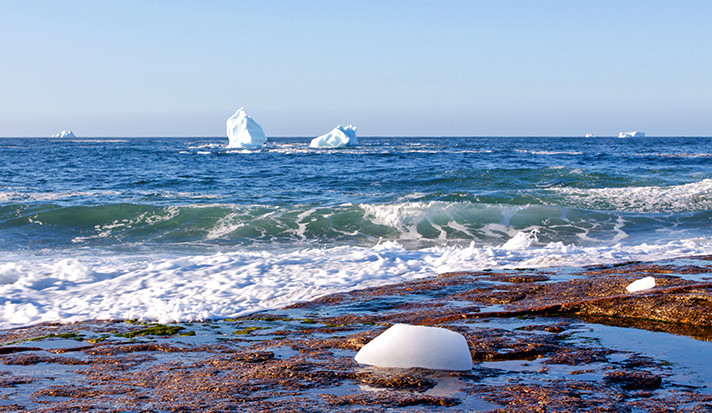 Choppy waters in the Atlantic Ocean