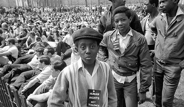 1970 May Day rally participants on the New Haven Green.