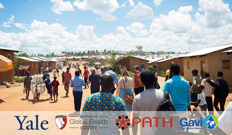 Immunization event in Rwanda
