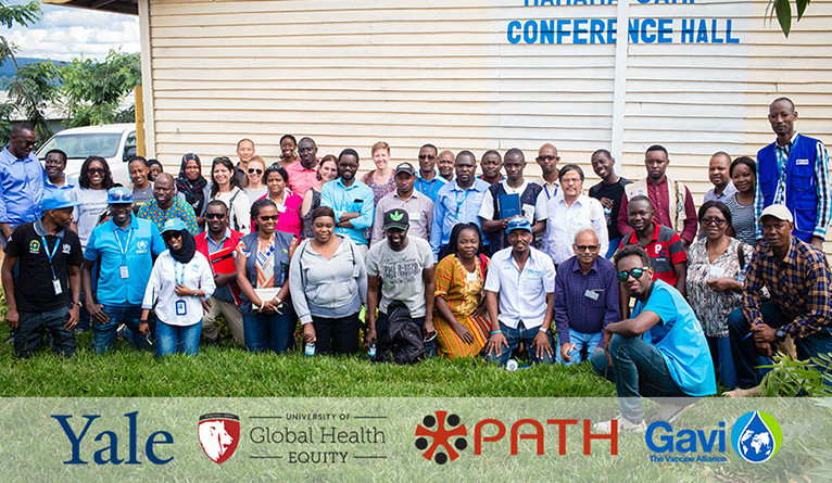 Group photo in Rwanda